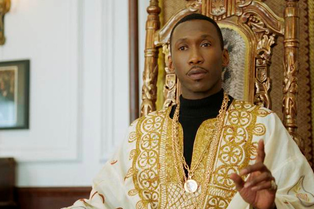 Mahershala Ali as Dr. Donald Shirley in Green Book, directed by Peter Farrelly.
